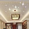 Wholesale- 50 Pieces   Pack Star Shape 3D Acrylic Wall Stickers Living Room Bed Room Ceiling Mirror Wall Sticker Home Decoration P17