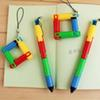 Creative 10 pcs lot Cartoon Folding Pen Ballpoint Pens Stationery Office School canetas material escolar Christmas Gift Prize kids toys