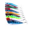 10PCS Big Mouth Popper Fishing Lures Suits 12g Plastic Lifelike Fishing Baits Combo 9cm Popper Hard Baits for Saltwater