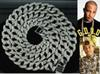 "Hip Hop Bling Iced out 30"" Simulated Diamond 15mm Cuban Link Chain Necklace Men's Jewelry accessories"