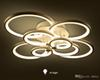 Dimmable led ceiling lights 4 6 8 rings Modern stainless steel Acrylic ceiling chandeliers lighting fixture AC85-265V
