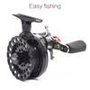 Fly Fishing Reels Left Hand Right Hand Fishing Reel 4 + 1BB 65MM 2.6:1 Fly Fishing Wheel High Foot DWS60 Pesca Equipment