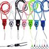 Cheapest Charm Strap Neck Lanyard Detachable Rotatable Charming String for Cell Phone MP3 MP4 ID Colorful Free Shipping by DHL 300pcs