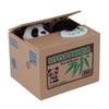 Mischief Bank Fresh Make Cute Little Panda Bamboo Automatic Stole Coin Piggy Bank Size Money Saving Box Money box Creative Gifts for Kids