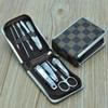9 Pcs Set Professional Nail Cuticle Clippers Pedicure Manicure Cleaner Grooming Kit Case Tool Home Essential High Quality