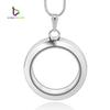 30mm Silver Round magnetic glass floating charm locket Zinc Alloy (chains included for free)LSFL02-1