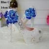 Bleu strass 14cm Heels