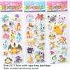 DHL New Stickers Pikachu Pocket Monster 3D Scrapbooking Puffy Sticker Sheet UV Wallpaper Nursery Children Kids Room Bedroom Wall HH-S25