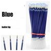 100pcs lot Neutral Ink Gel Pen Refill Neutral Pen High Quality Black Blue Red 0.5mm Replace Refill Stationery Material Escolar