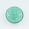 Hot sale NS0004 Beauty Charm Round turquoise white 18MM snap buttons for DIY ginger snap Jewelry Accessories charm wholesale