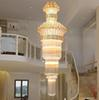 Newest Modern stairs long chandelier crystal chandelier penthouse floor staircase hall bedroom villa chandelier crystal chandelier 1pcs
