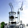 Glass Bong With Black Hive Line Perc Oil Dab Rigs Thick Bongs 11.5'' Glass Water Pipes Percolator with Quartz Banger DGC1257