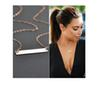 Fashion Gold Plated Chain Bar Necklace Long Strip Pendant Necklaces Jewelry For Women birthday gift 1pcs drop ship