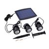 BSV-SL318 Solar Panel With Powered 3 Bulbs Submarine Spotlight 18 LED RGB Garden Pool Pond Lamp Underwater Lights Waterproof Anti-Shock