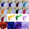 10PC Table Runner Satin Table Runners for Wedding 12X108 inch Satin Ribbon Cloth Table Runner Flag of Wedding Banquet Decors