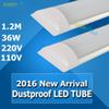 2016 Hot sale New Style Dust-protected led tube 110V 220V 2ft 3ft 4ft with 2835 smd 192leds white warm white color CE ROHS
