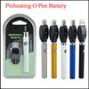 Preheat Battery 350mAh Preheating Battery 3.4V 3.7V 4.0V CE3 vape O pen with wireless Charger for wax oil tank