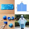 Disposable Emergency Raincoats Outdoor colorful Set of Portable Hook Poncho Ball F00562