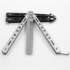 Black Silver Practice Butterfly Knife Trainer Folding Knife Dull Tool outdoor camping knife comb Free Shipping