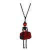 Lovely Dress Doll Necklace Pendants New Fashion Key Chains Jewelry For Women Girl Styles Accessories Gifts