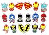 Wholesale 50 Pcs Mix Cartoon Superhero The Avengers Classic Character Metal Charm Pendants Jewelry Making Toy Gift