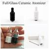 Full Ceramic Wax Atomizer Donut Wickless Coils Herbal Pyrex Vaporizer 510 Tank Hookah Globe Bulb Vase Cannon Bowling Vape Pen Mod