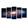 5 Panel Space And Universe Canvas Print Cosmos Star Sky Landscape Canvas Wall Art Giclee Artwork for Home Decor and Office 60''x32''