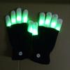 Rave Gloves Mitts Flashing Finger Lighting Glove LED Colorful 7 Colors Light Show Black and White DHL free shipping OTH661
