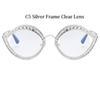 C5 Silver Frame Clear Objektiv