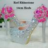Red strass 14cm Heels