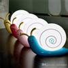 USB rechargeable night light snail desk lamp creative cartoon night lamp four colors for Child baby