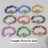 20pcs lot Mix Colors Fashion Kids Girls 15cm Length Handmade Acrylic Beads 18mm Snap Button Bracelets For Children