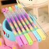 High Quality 20pcs lot 6 in 1 Colorful Gel Pens Maker Pen Rainbow Pen Stationery Free Shipping Material Escolar