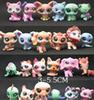 Toy bag 24Pcs lot Pet Shop Animals Cats Kids boy and girl Action Figures PVC LPS Toy Birthday Christmas Gift
