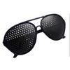 77020cc291 Black Unisex Vision Care Pin hole Eyeglasses pinhole Glasses Eye Exercise  Eyesight Improve plastic Retail