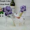 Violet strass 14cm talons