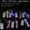 Christmas CR2032 battery operated 2M 20 LEDS micro led fairy string light Copper Wire led string holiday light decorations free shiping
