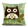 Pillow Case Big Eye Owl Printed Scatter Cushion Covers Pillowcase Square Cojin Home Decor Car Seats Soft Pillow Cases Without Filler