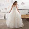 New Brand Zip Ruffle Wedding Dress With Beads Luxury Sweetheart Wedding Dress Custom Made Vestido De Noiva