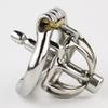 New Super Small Male Chastity Device 42 MM Adult Cock Cage With Urethral Catheter BDSM Sex Toys Stainless Steel Chastity Belt
