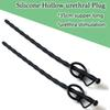 350mm Latest Design Super Long Urethral Sound Penis Plug Catheter With Glans Ring Silicone Urethral Chastity Sex Toys For Men