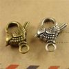 18*22MM Retro bird charm lobster clasp for bracelet, tibetan silver clasp for Necklace buckle handmade DIY accessories wholesale jewelry