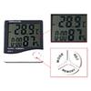 Electronic Temperature Clock HTC-1 LCD Indoor Humidity Meter Daily Alarm And Calendar Display with Retail Package DHL OTH357