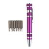 8 In 1 Precision Magnetic Pen Style Screwdriver Screw Bit Set Slotted Phillips Torx V1.5-3.5 Repair Portable DIY Tool 50PCS