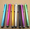 High Quality 50pcs lot Aluminum Metal Stylus Touch Screen Pen for Mobile Phone Tablet School Office Home Supplies Papelaria