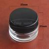 Transparent Tempered Glass Dab Wax Oil Containers concentrate Hardened Glass Jar for Wax Cosmetic Storage e ecigs cigarettes