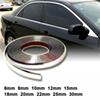 13Meters Silver Car Chrome Styling Decoration Moulding Trim Strip Tape Auto DIY Protective Sticker 6mm 8mm 10mm 12mm 15mm 18mm 20mm 22mm 25m