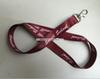 Hot Maroon Phone Lanyard With White Logo Sublimationg Print School Promotion Custom Design Lanyards For Badge Holder