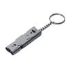 Outdoor Survival Signal Whistle Double Tubes Stainless Steel Emergency Whistle, Life Saving Whistle Key Chain for Camping Hiking