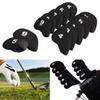 Hot Sale 10Pcs Golf Club Iron Putter Head Cover HeadCovers Protect Set Neoprene Black Fast Shipping